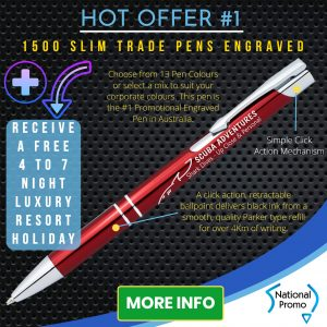 Engraved Pens, National Promo Hot Offer #1, Spend $1200 in 2020 and get a FREE Holiday