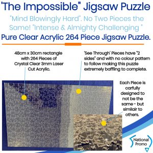The Impossible Clear Acrylic Jigsaw Puzzle