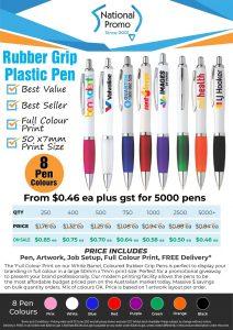 FULL COLOUR Printed Plastic Pens