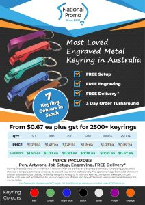 National Promo JUNE 2021 Financial Year Sale KEYRING OPENERS